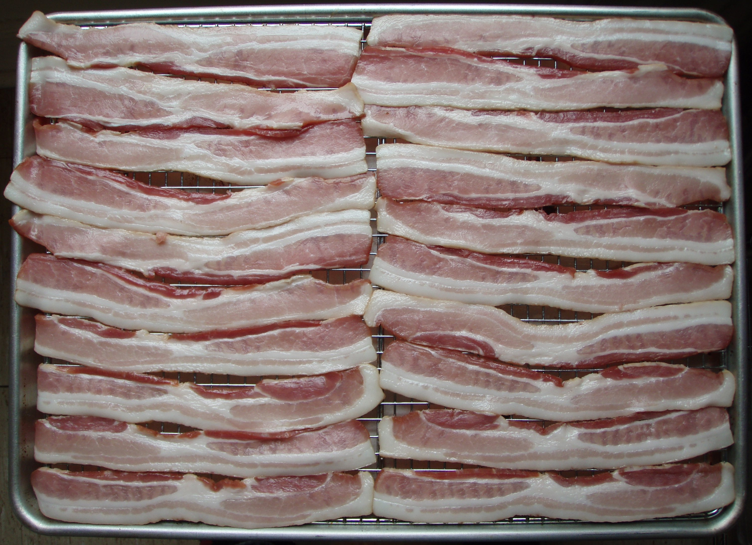 Undercooked Bacon File:Raw bacon.jpg - W...