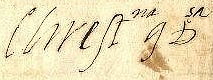 Signature of Christina of Lorraine as Grand Duchess of Tuscany in 1599.png