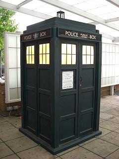 English: The current TARDIS seen at BBC TV Centre...