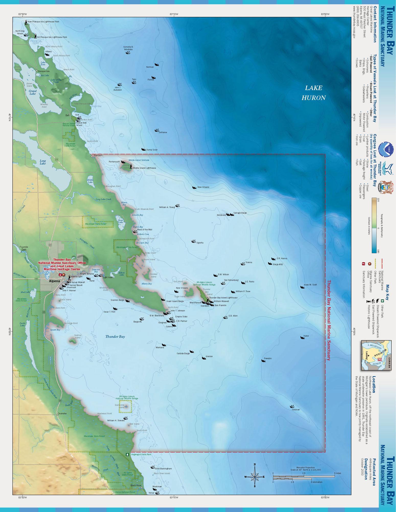 Thunder Bay Michigan Map.File Thunder Bay Nms Map Jpg Wikimedia Commons