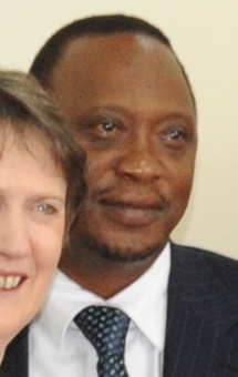 English: Uhuru Kenyatta, cropped from: Helen C...