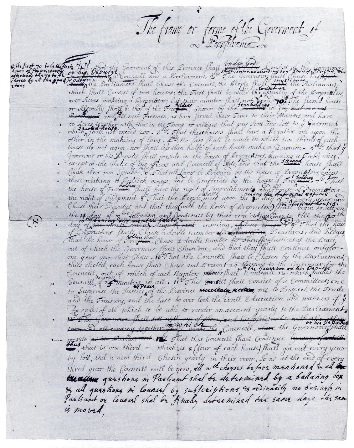 ファイル william penn the first draft of the frame of government