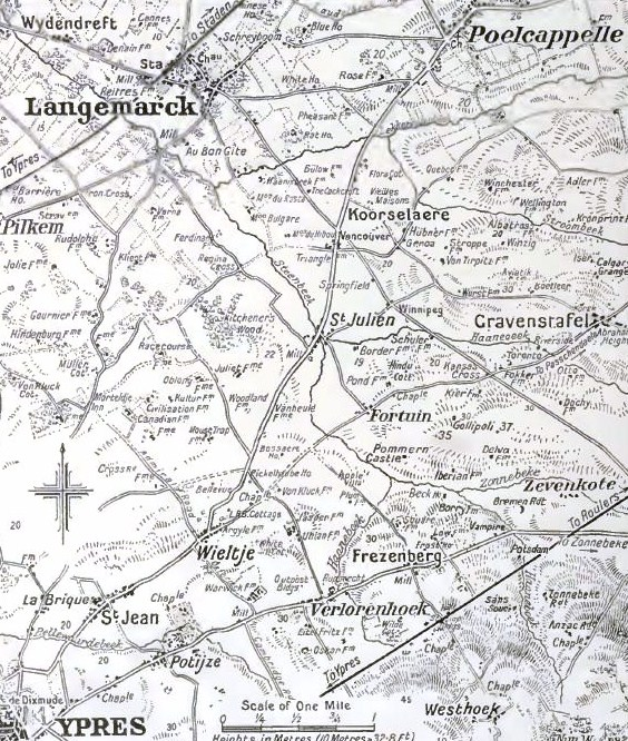 Ypres and Langemarck Areas