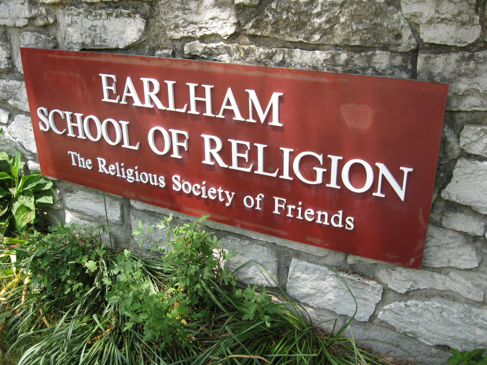 9%2f9c%2fearlham school of religion sign