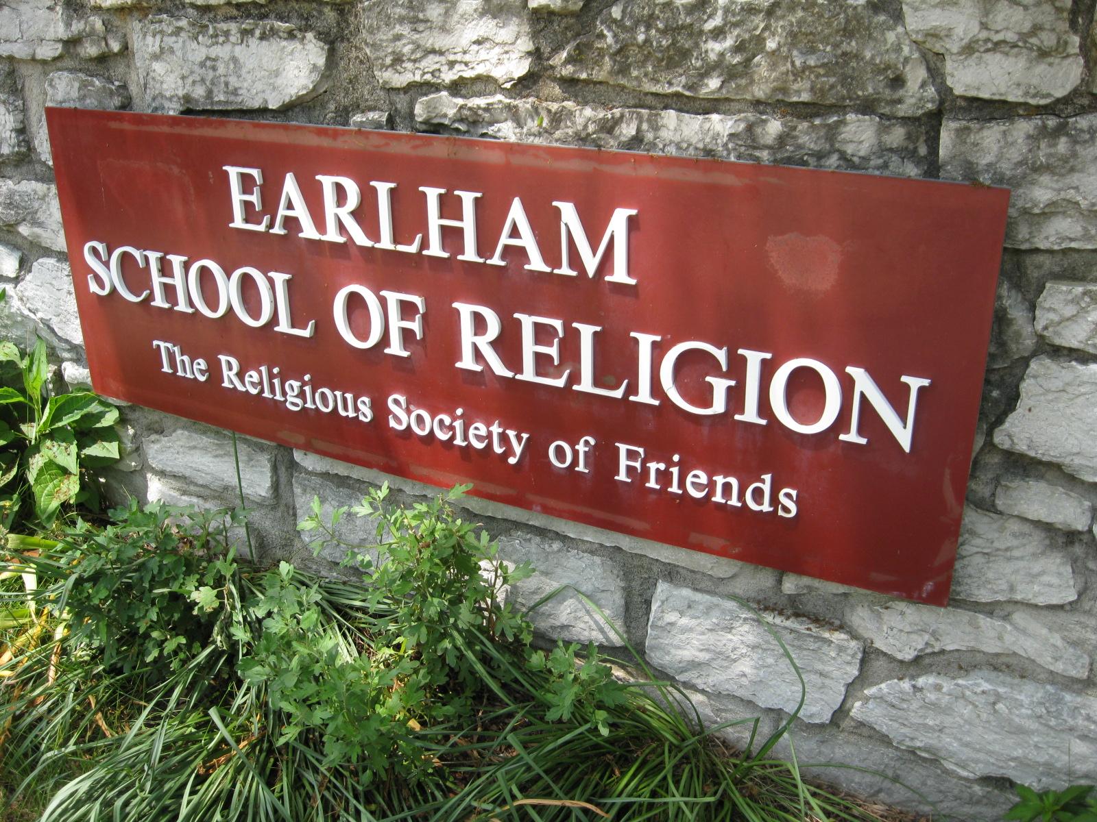 9%2f9c%2fearlham school of religion sign