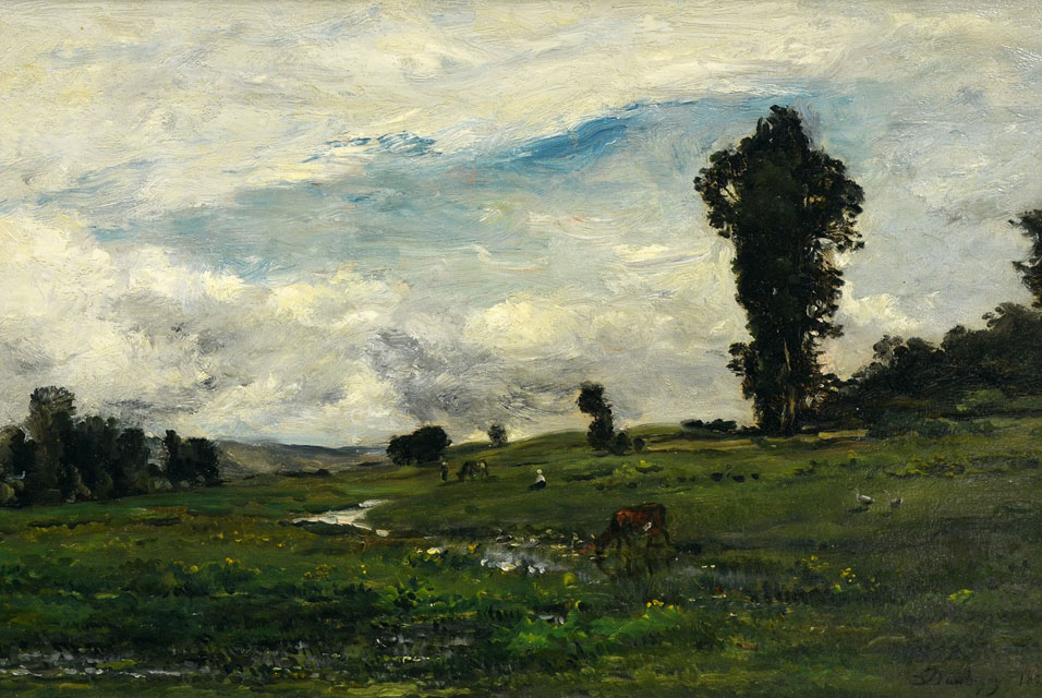 File Figures And Cows In A Country Landscape 1874 By