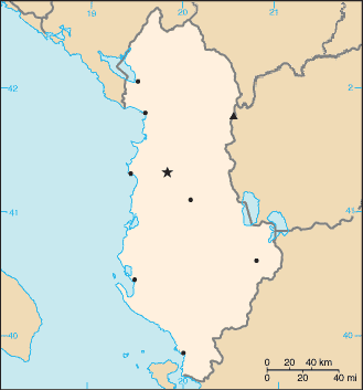 Pozita gjeografike e Shqiperise 000_Shqip%C3%ABria_harta