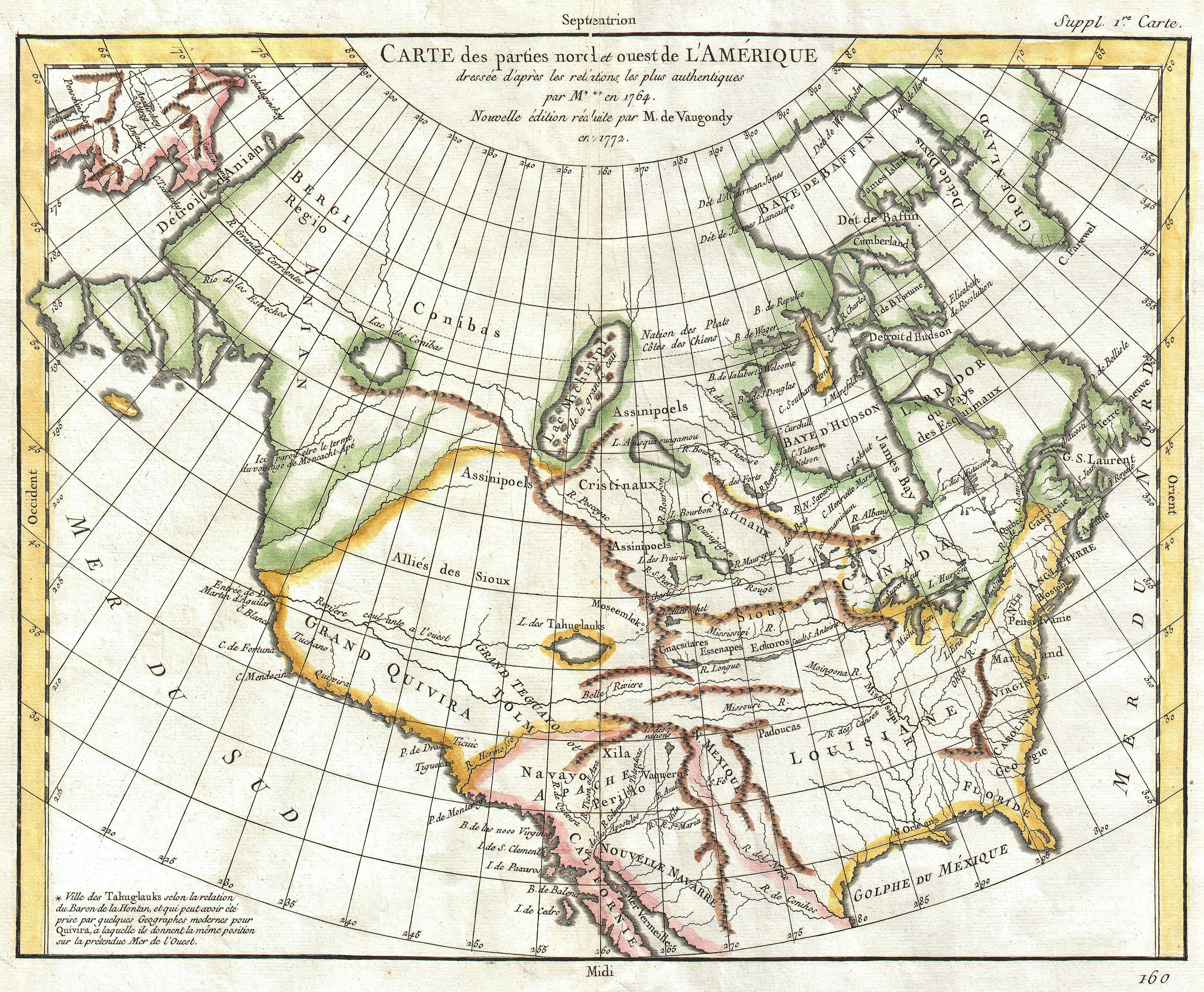 File:1772 Vaugondy - Diderot Map of North America ^ the ...