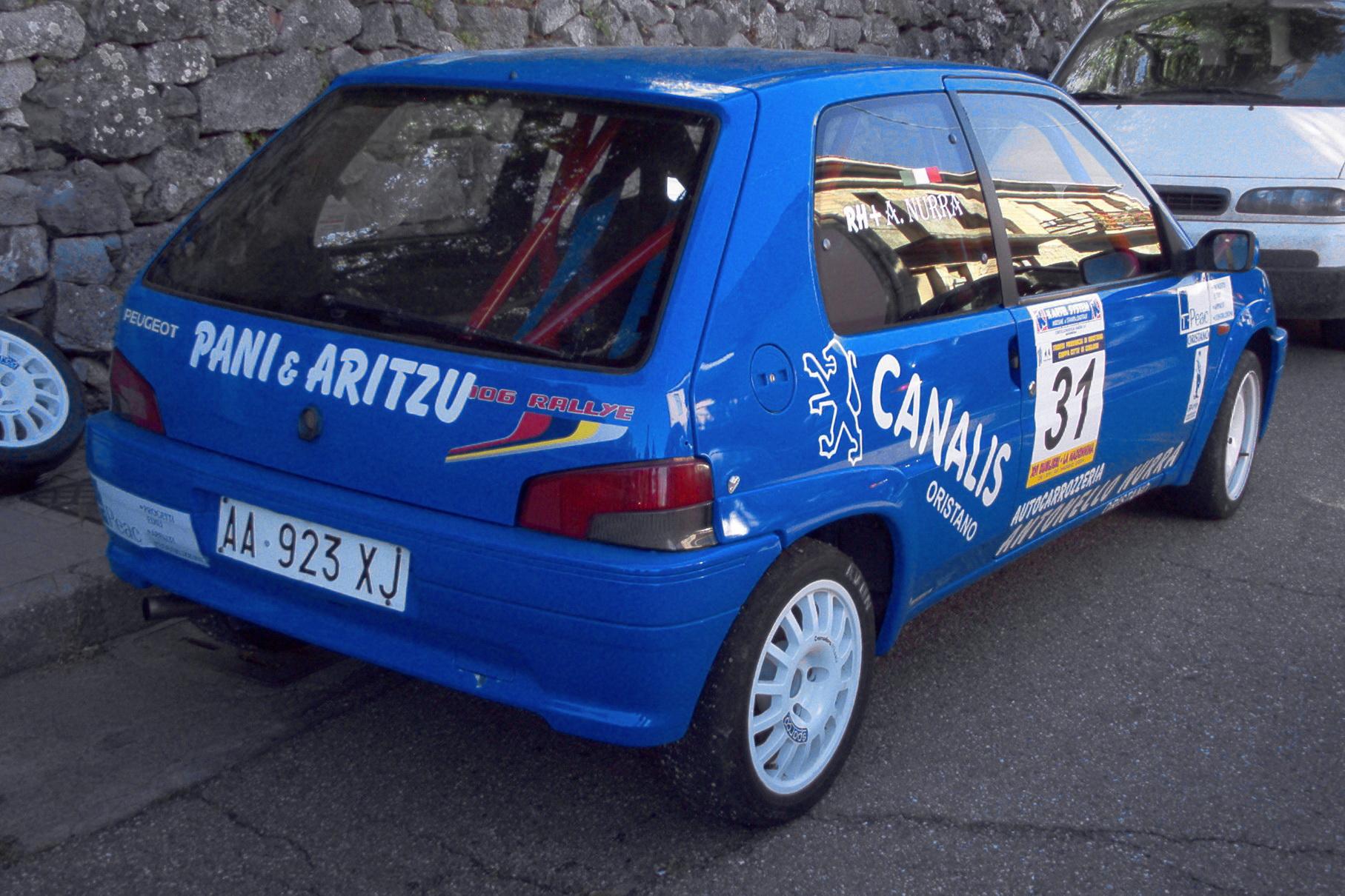 File 31 Antonello Nurra Peugeot 106 Rallye 2 Jpg Wikimedia Commons