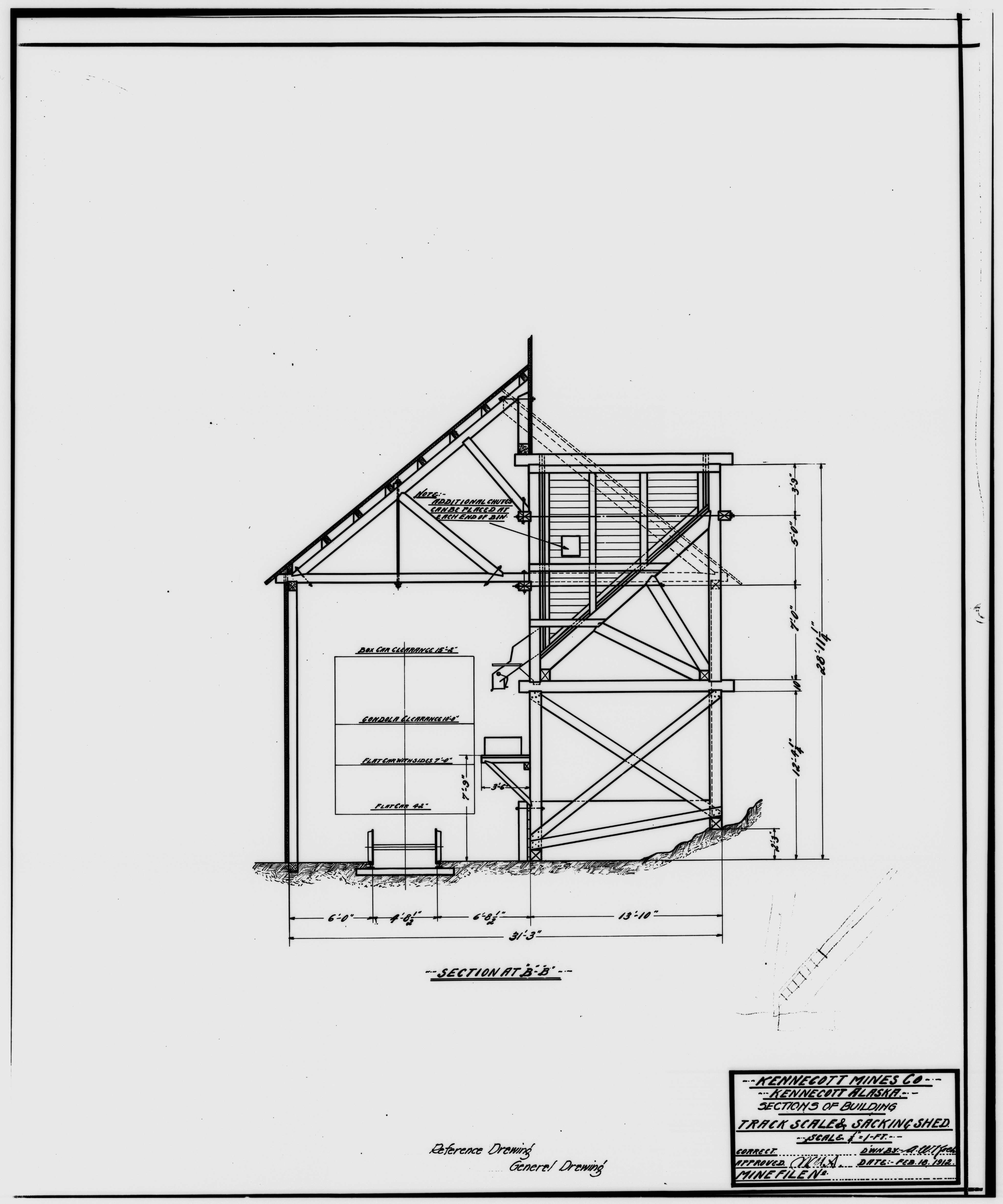 File 41 Photocopy Of Drawing Of Track Scale And Sacking