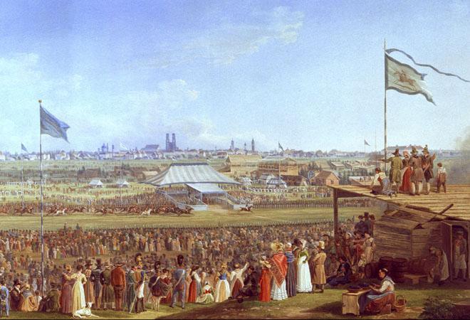 Adam Pferderennen Oktoberfest 1823