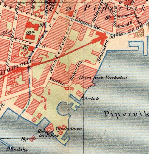 kart over aker brygge Fil:Aker Brygge map 1900. – Wikipedia kart over aker brygge