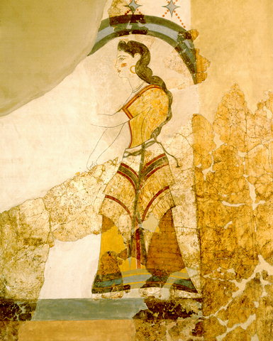 Minoan fresco from Akrotiri