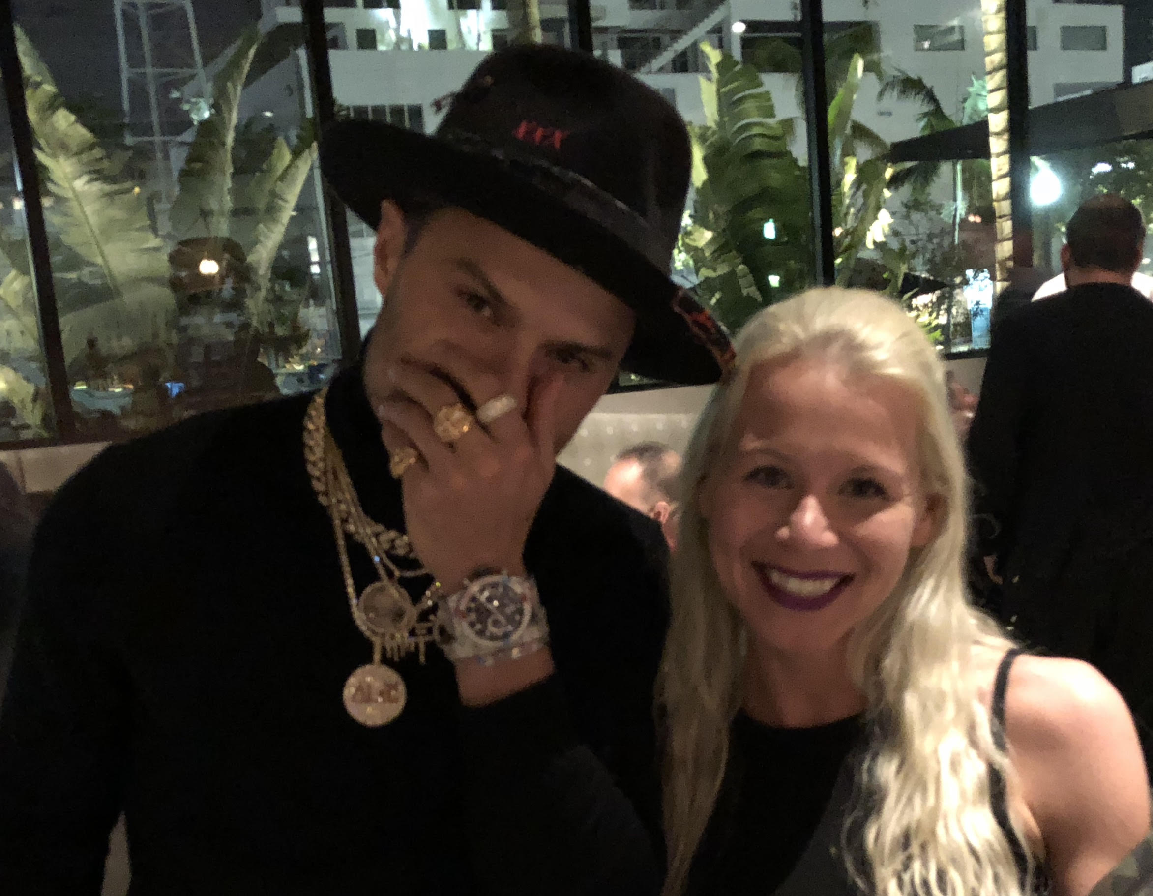 The 39-year old son of father (?) and mother(?) Alec Monopoly in 2018 photo. Alec Monopoly earned a  million dollar salary - leaving the net worth at 12 million in 2018