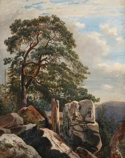 File:Alois Kirnig - Pine Trees in a Rocky Landscape.jpg