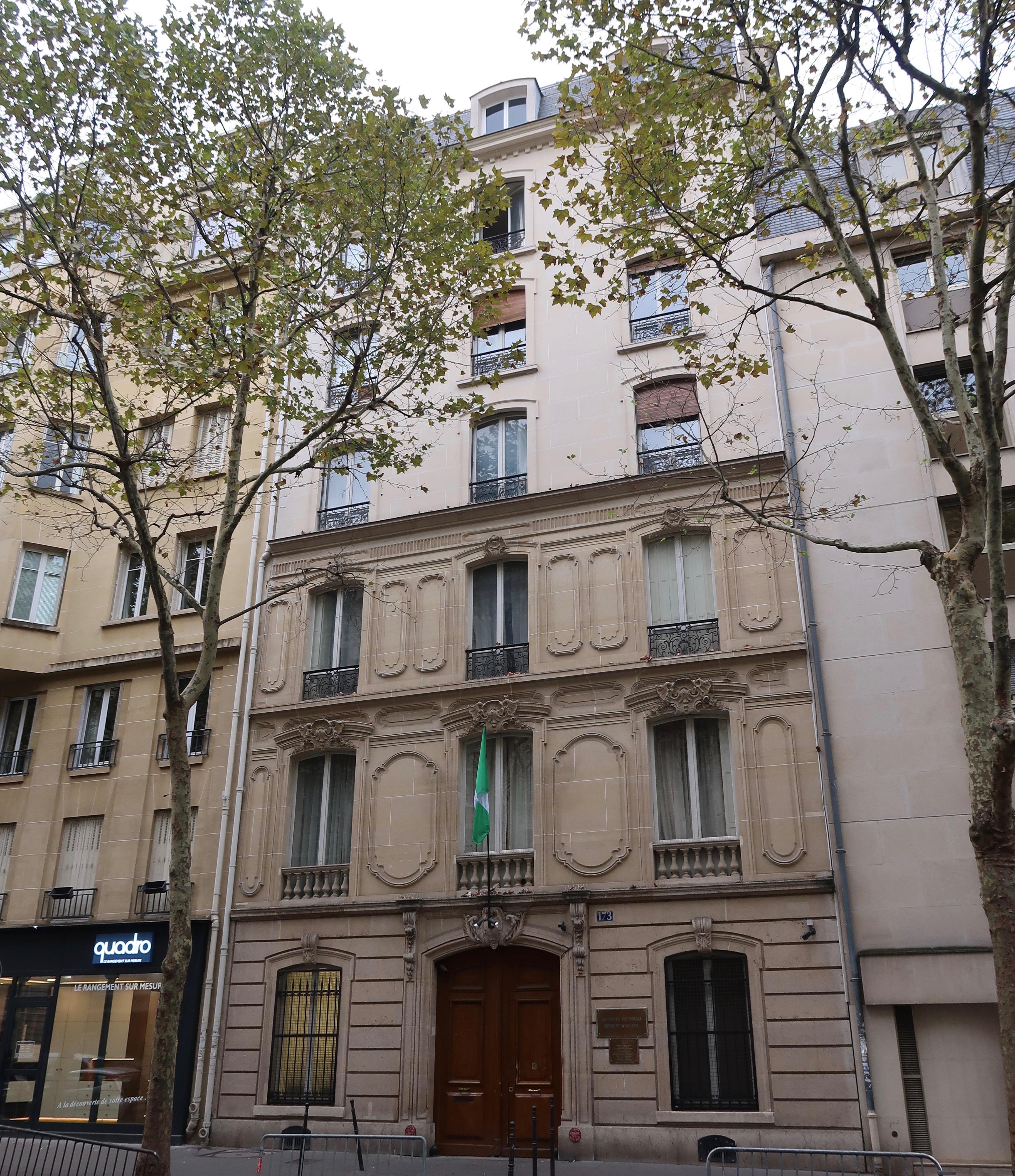 File Ambassade Du Nigeria En France 173 Avenue Victor Hugo