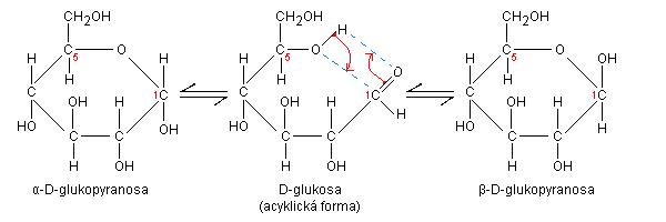 Anomerizace glukosy