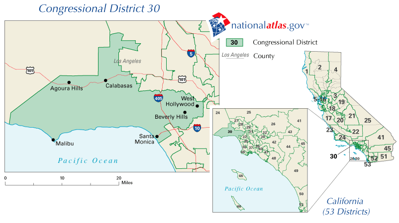 FileCalifornias Th Congressional District Mappng Wikimedia - Us congressional district map california