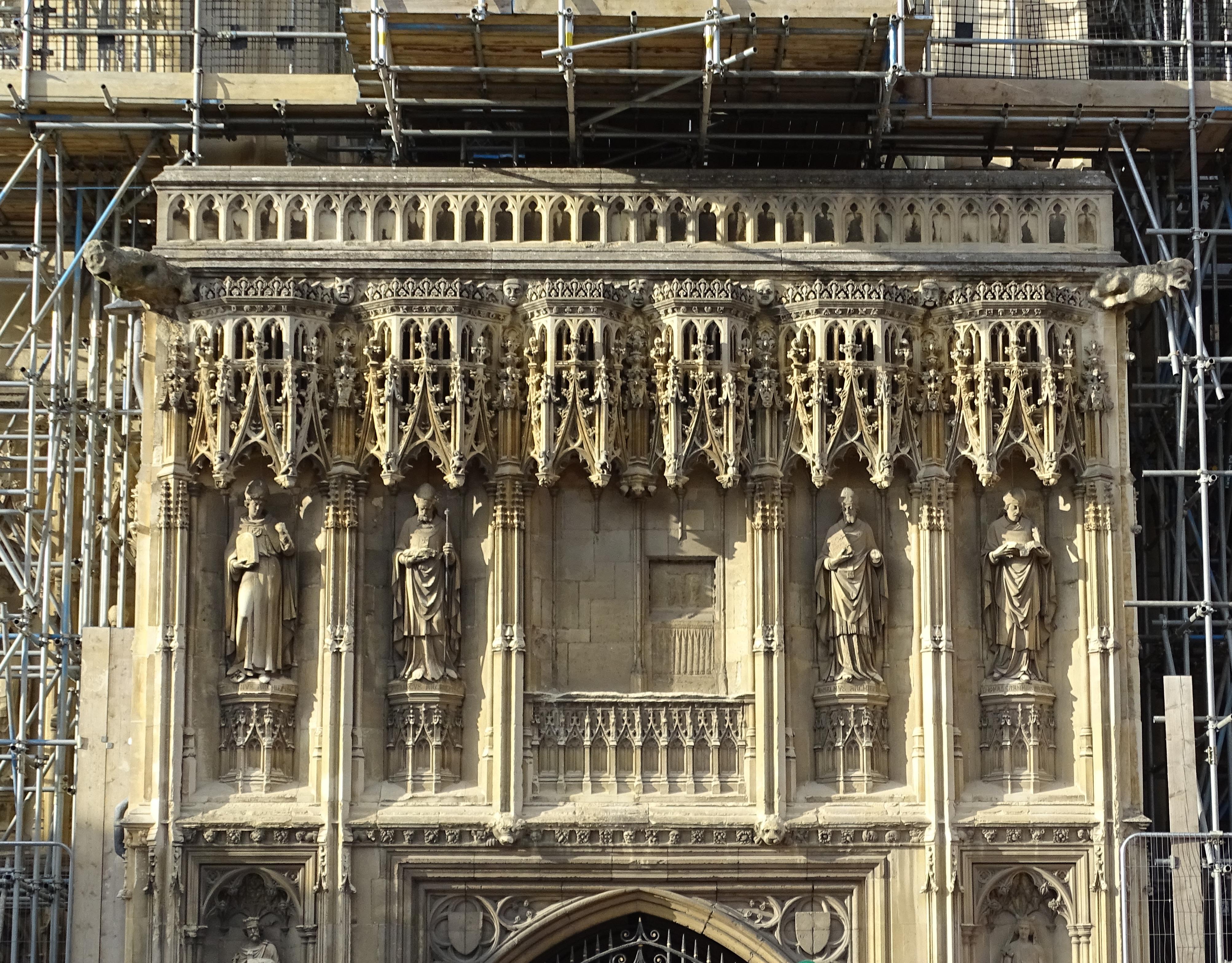 Filecanterbury Cathedral Entrance Sculptures 02jpg