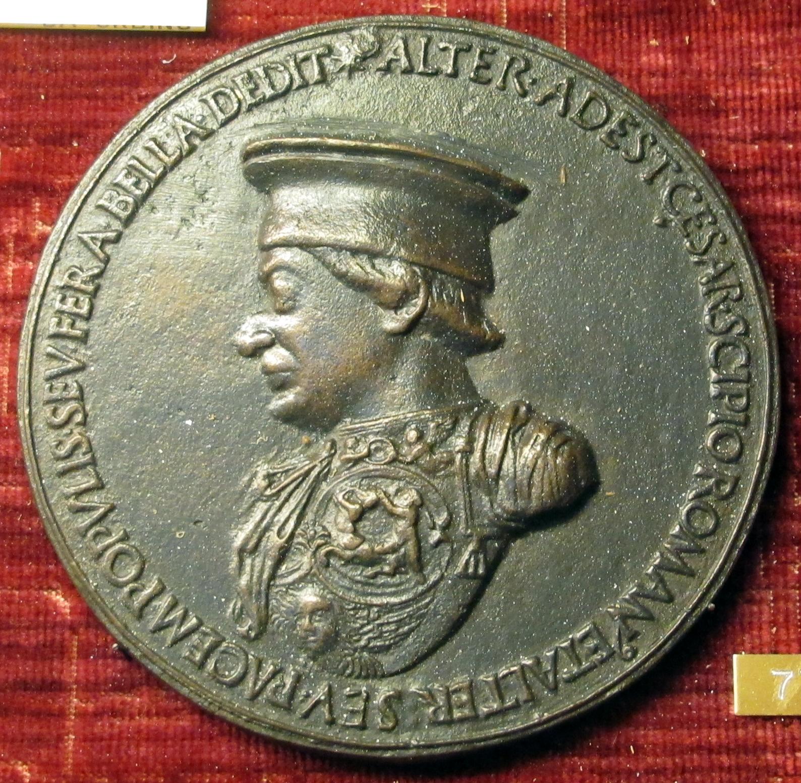 File:Clemente da urbino, medaglia di federico da montefeltro, 1468.JPG