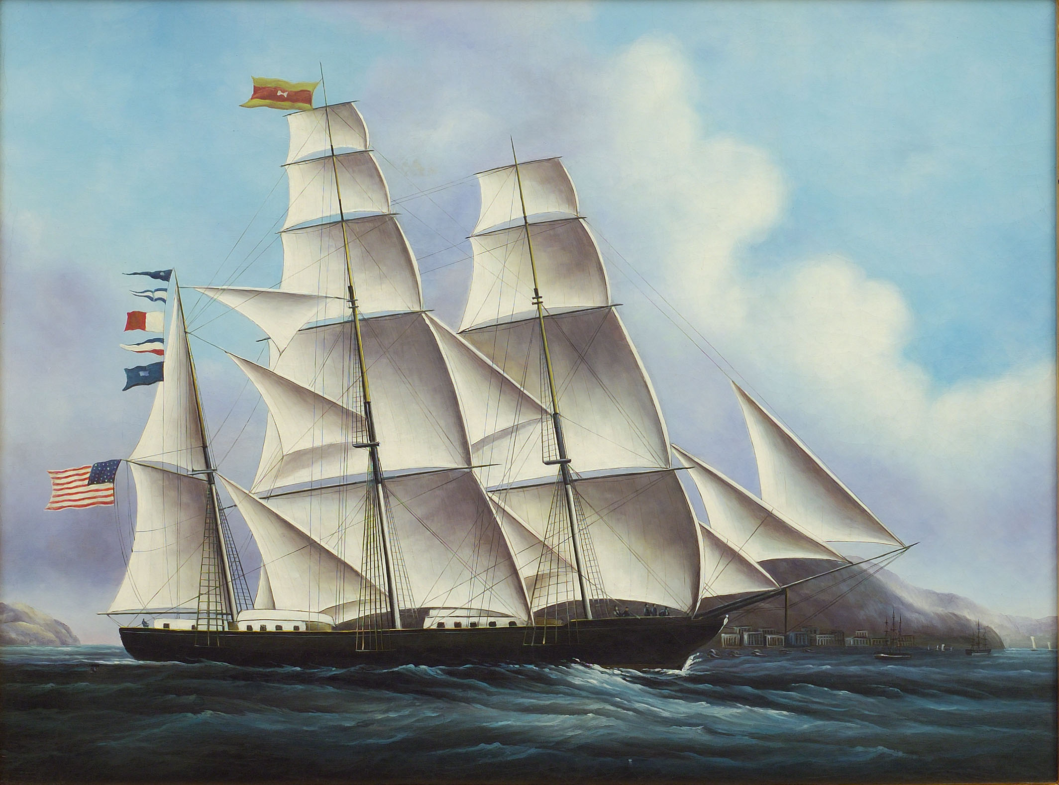 the clipper ships the synonymous of fast sailing in the 19th century Clipper a fast sailing ship, especially one of 19th-century design with concave bows and raked masts cite this article pick a style below, and copy the text for your bibliography.