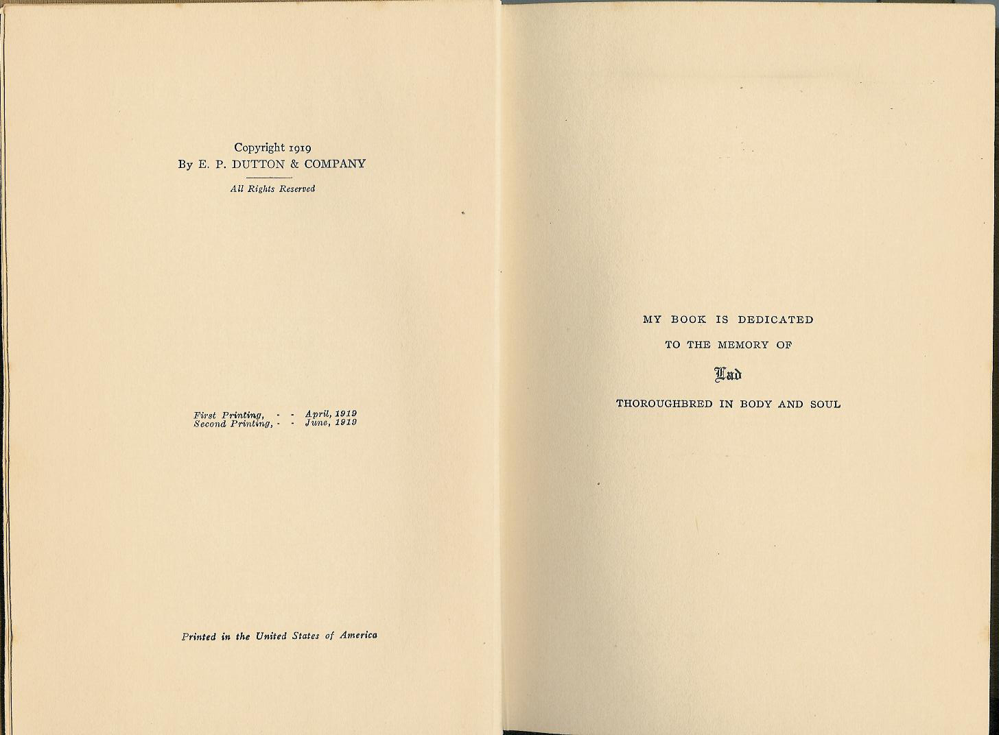 FileCopyright Page First Edition Lad
