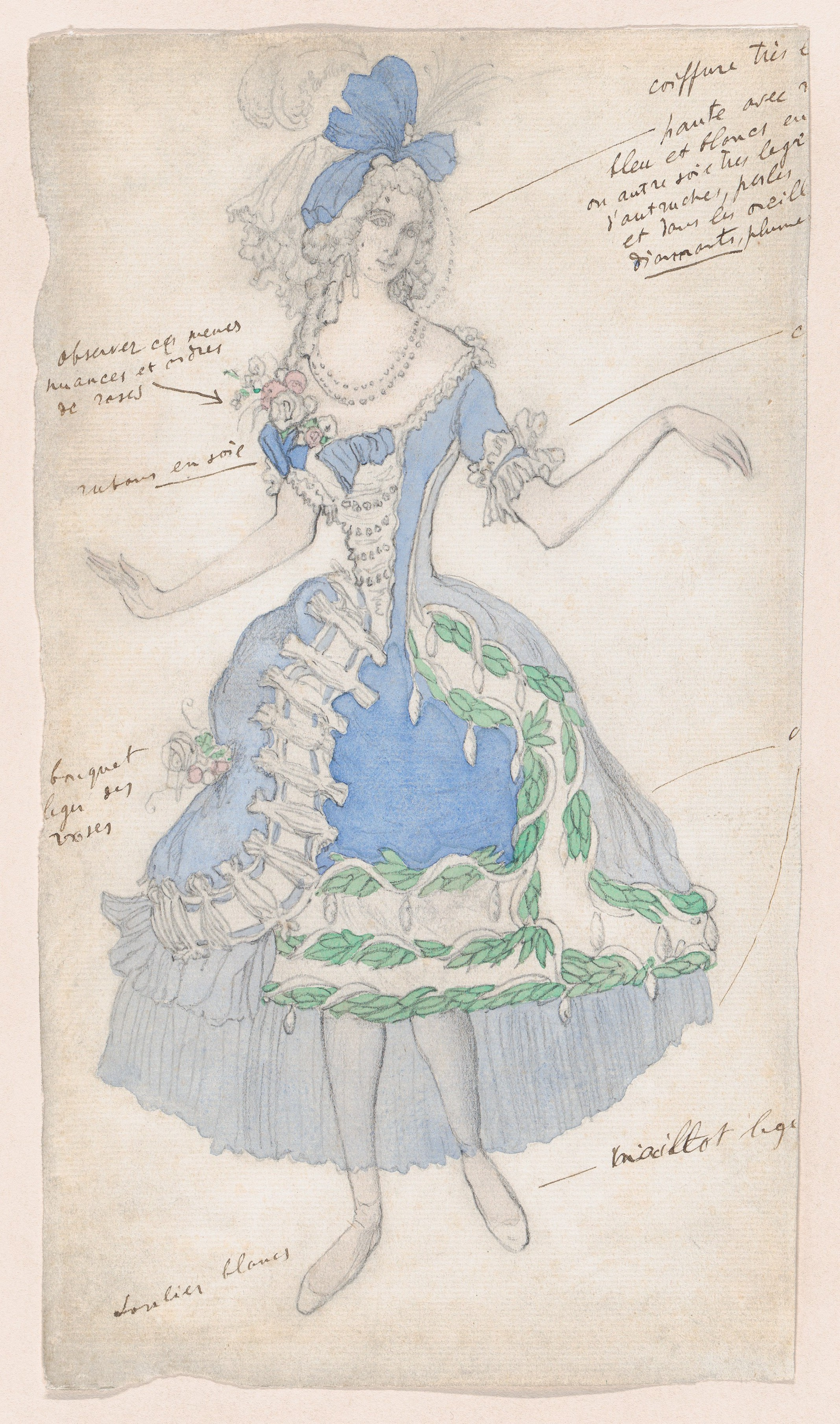 File Costume Design For A Female Courtier Likely For The Ballet La Belle Au Bois Dormant Sleeping Beauty Premiered At The Alhambra Theatre In London 1921 Met Dp859238 Jpg Wikimedia Commons