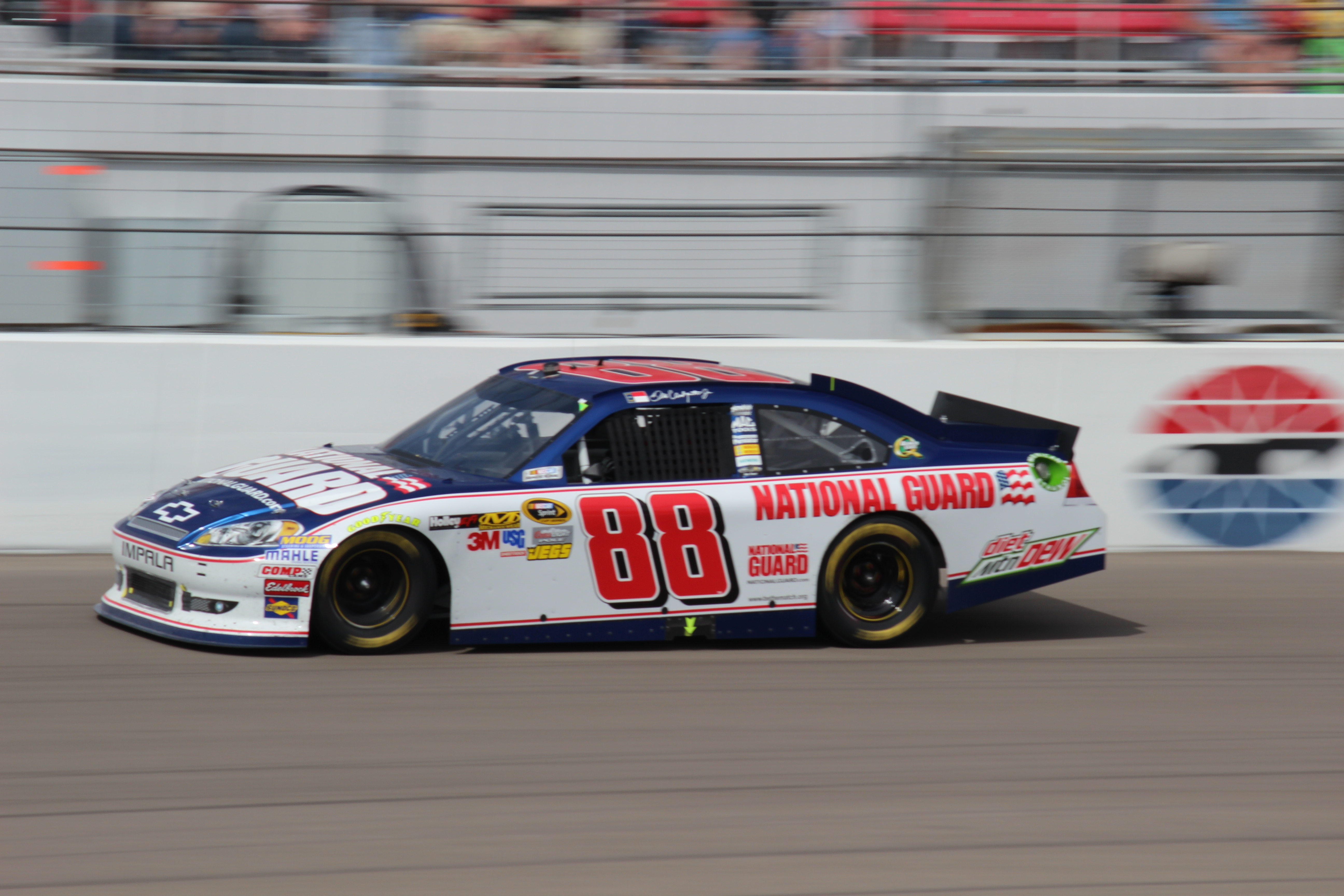 Dale Earnhardt Jr Drives His Dads Car