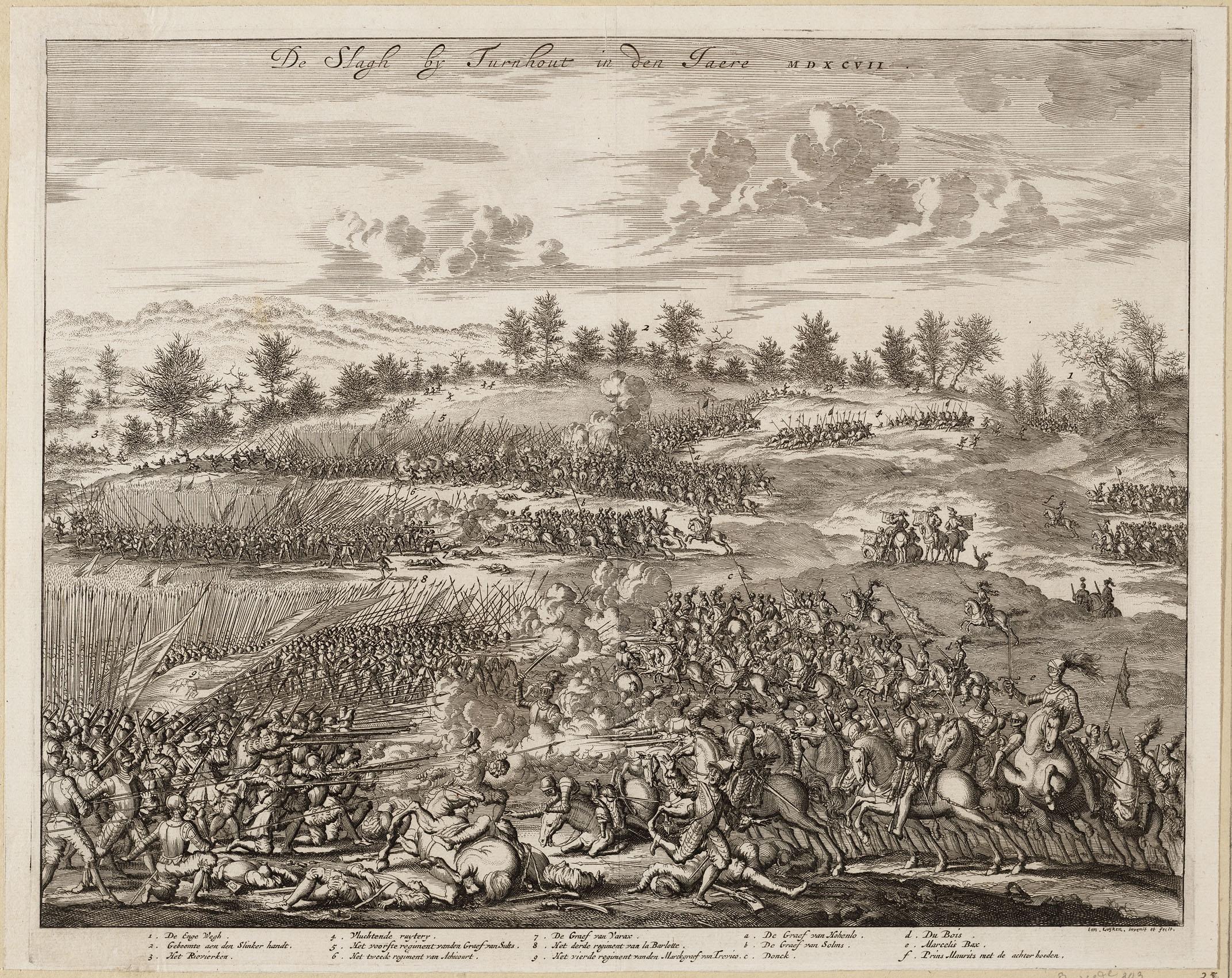 Файл:De slagh bij Turnhout in den jaere MDXCVII - 1597 (Jan Luyken,
