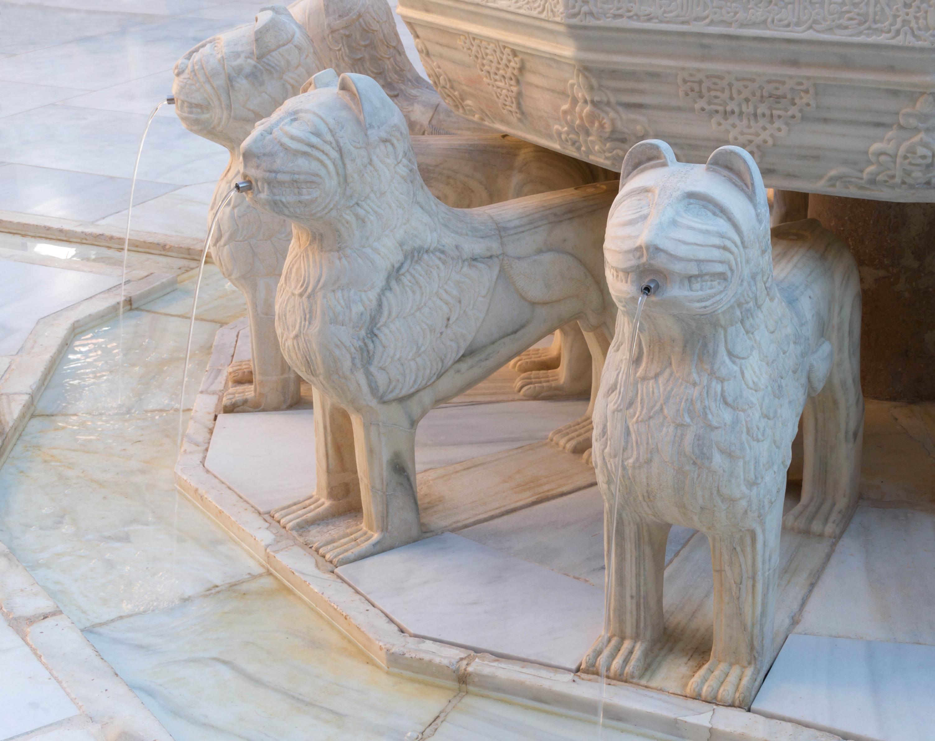 File Detail Fountain Lions Patio De Los Leones Alhambra Granada