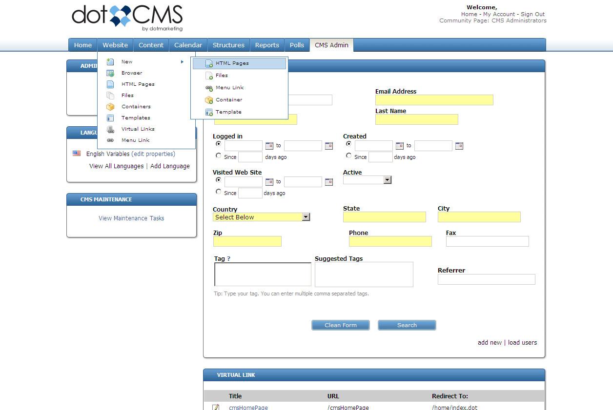 dotCMS Community Edition x64 screenshot