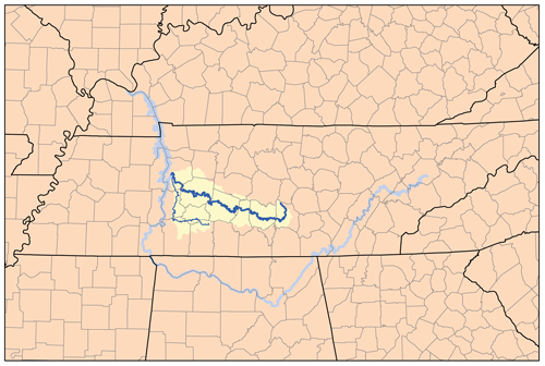 Duck River Tennessee Wikipedia - Tn river map