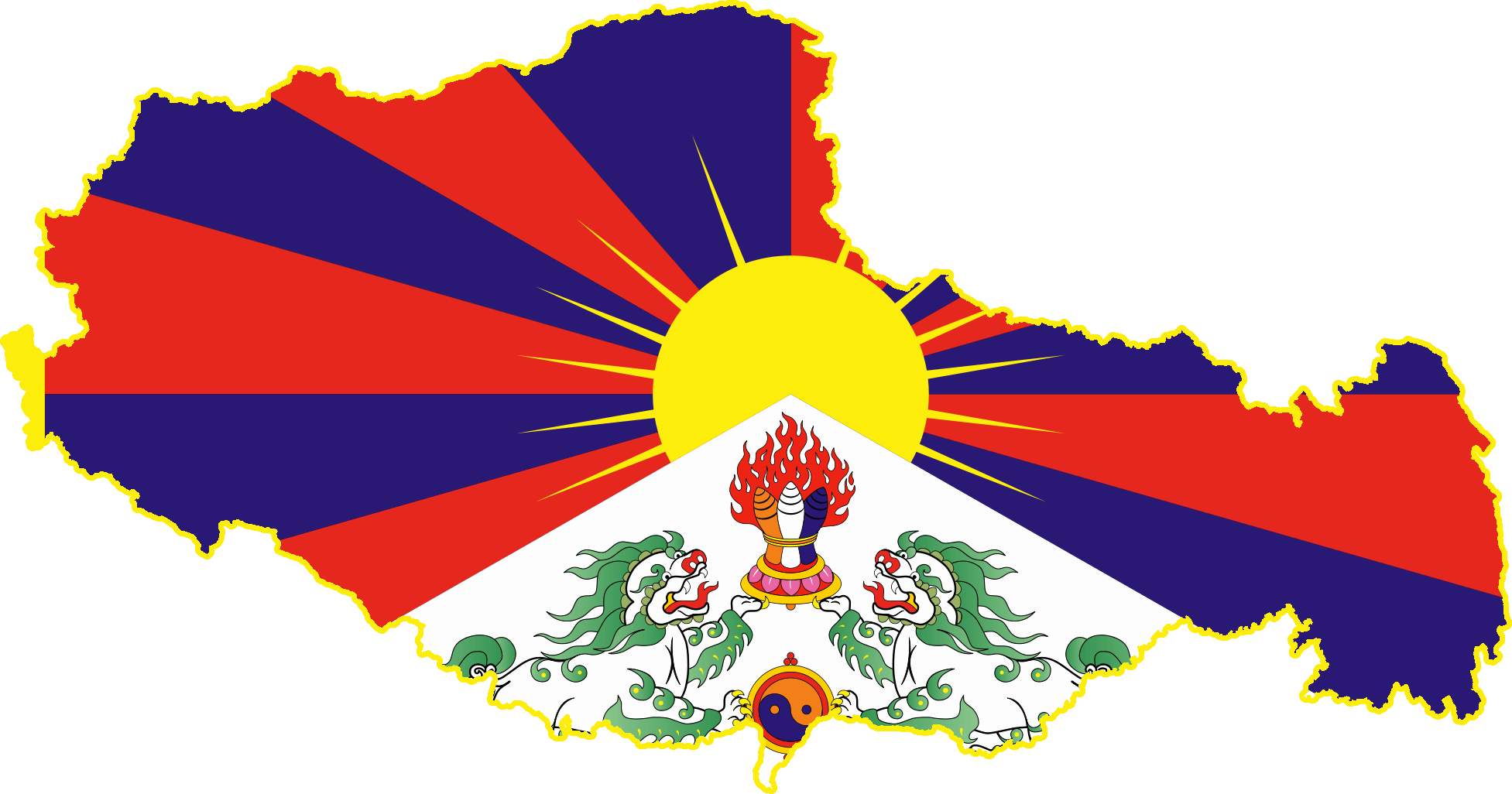 file flag map of tibet png wikimedia commons