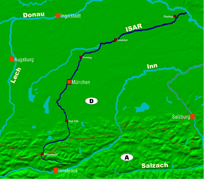 Isar Fluss Karte.File Fluss Lage Isar Png Wikipedia