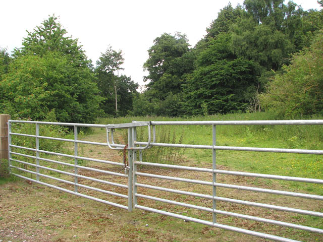 Gated track into private property - geograph.org.uk - 1387185.jpg