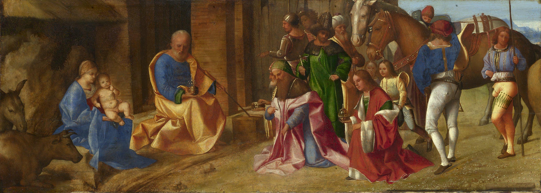 Giorgione (1478–1510)  - Adoration of the Magi (Поклонение волхвов), 1506.  National Gallery, London