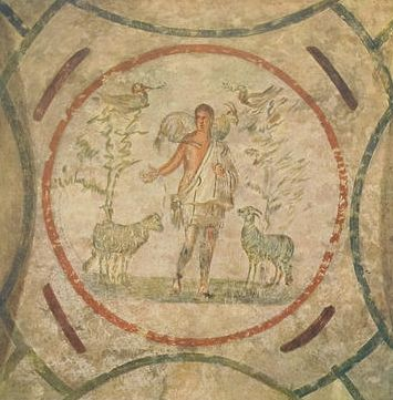 Good Shepherd Catacomb of Priscilla Image via Wikimedia