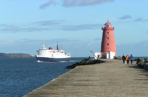 Isle of Mann passenger ship, Lady of Mann, visits Dublin in 2004.