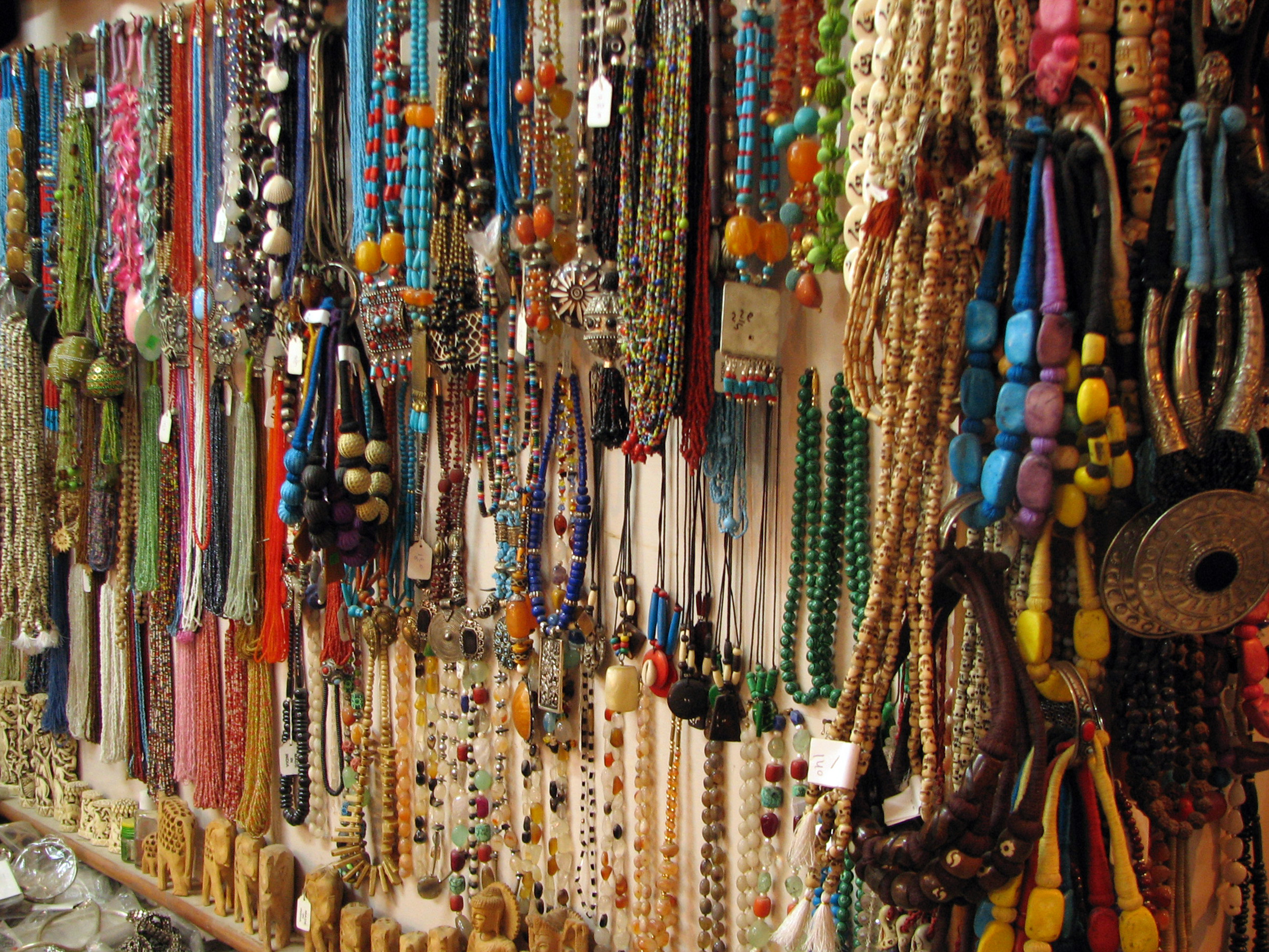 File India Rishikesh 025 A Rainbow Of Necklaces For Sale 2097592556 Jpg Wikimedia Commons