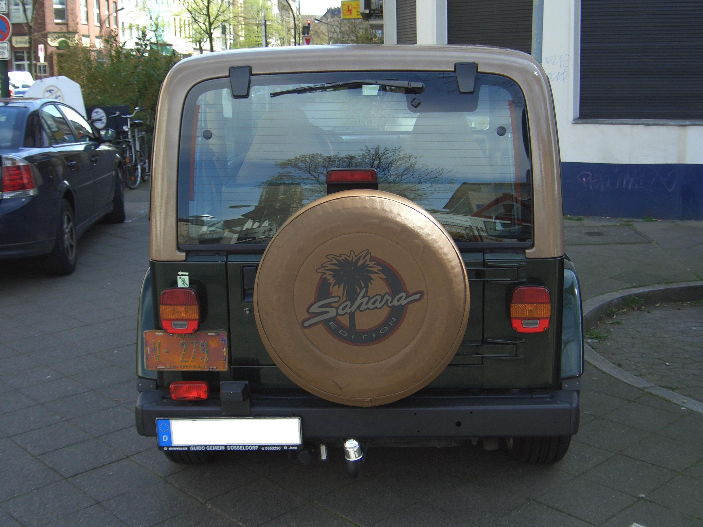 File:Jeep Wrangler 4.0L Sahara TJ 1997 2006 Back 2008 04