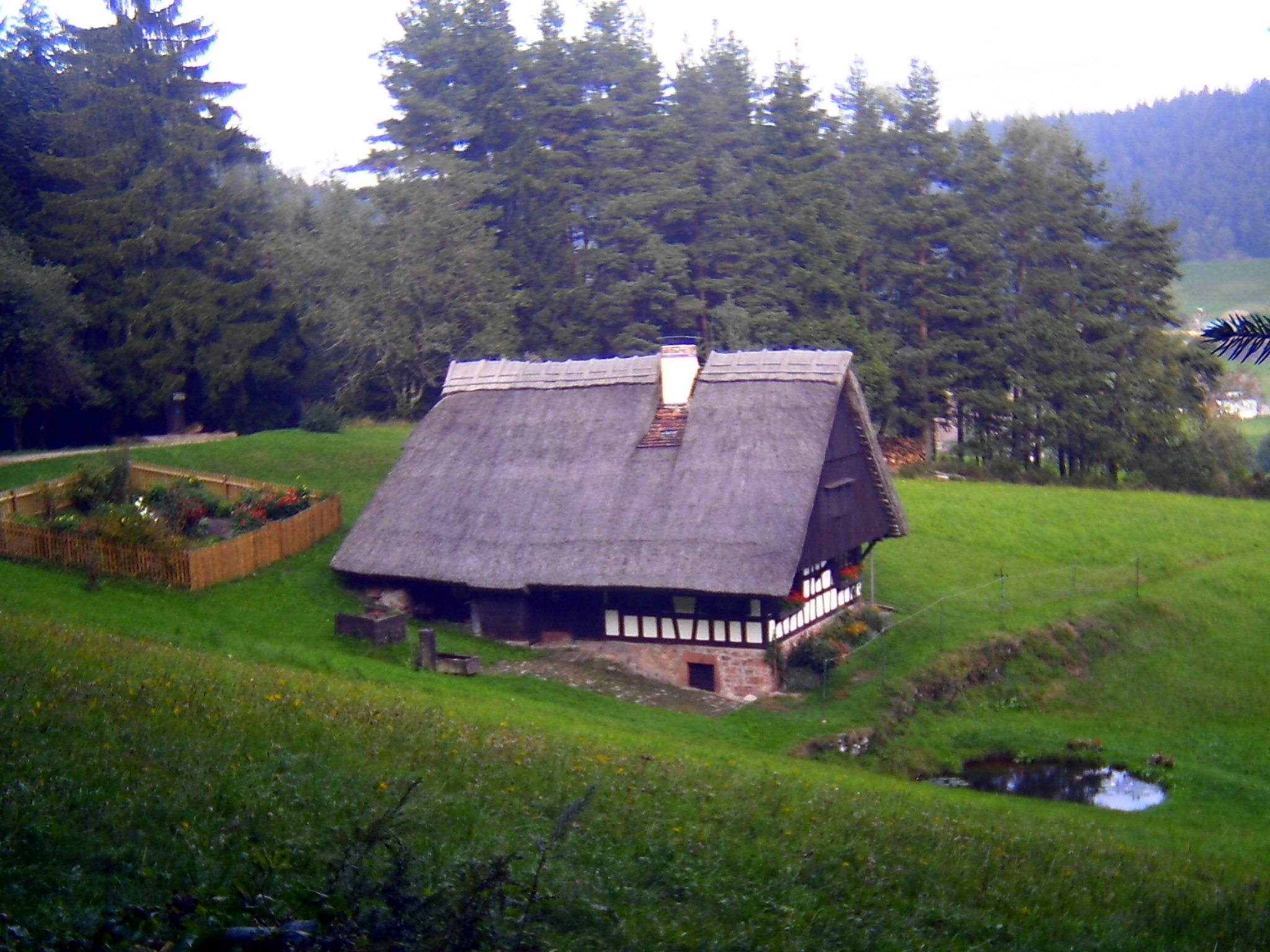 File:Kapfhaeusle , Old House Black Forest Style Near Lauterbach