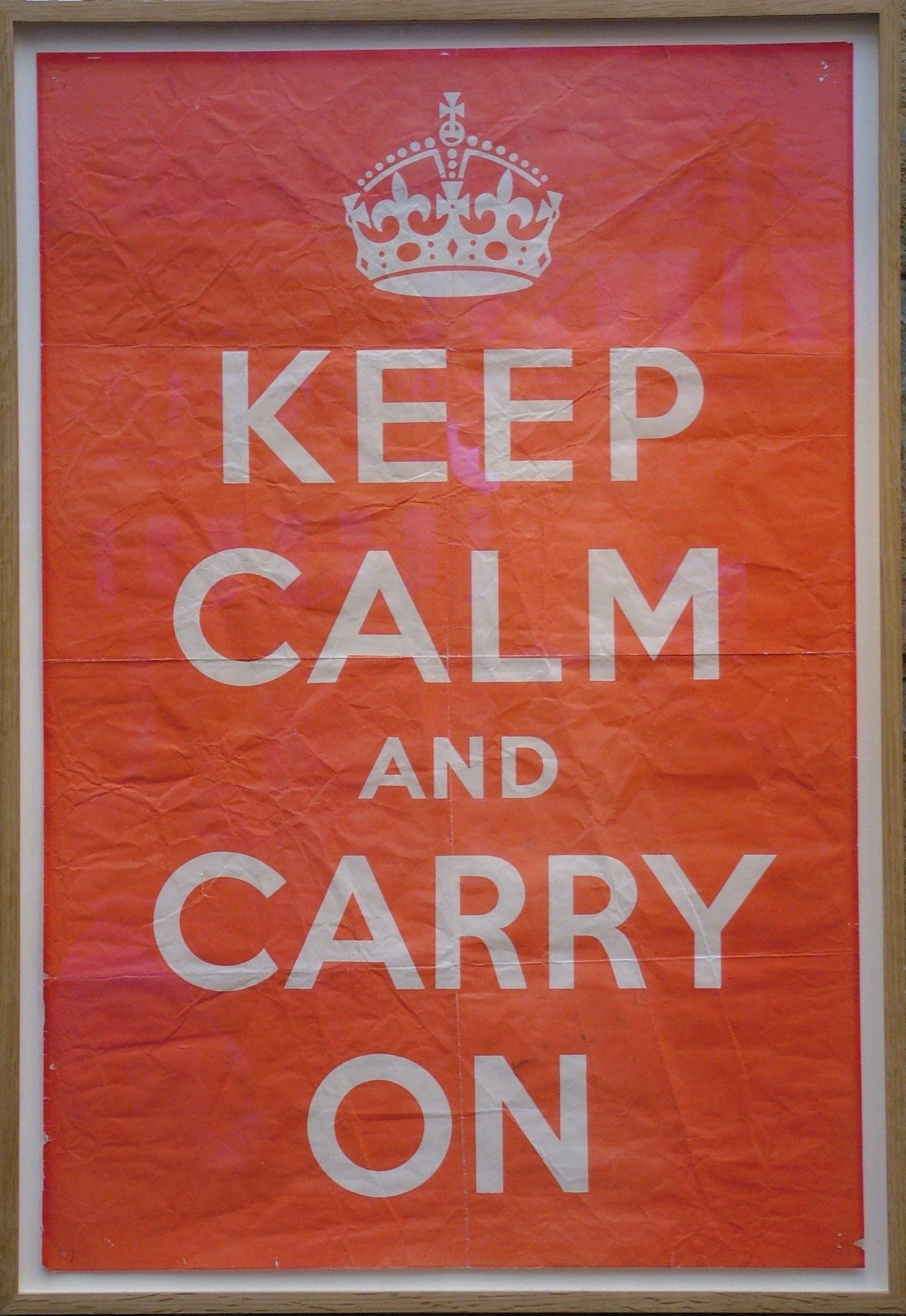 keep calm and carry onのパロディが面白い 目を背けた先