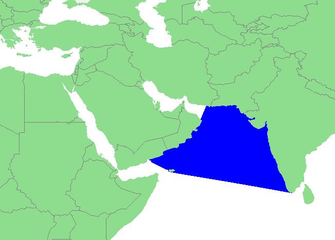 Locatie Arabische Zee