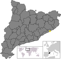 Location of Малграт де Мар
