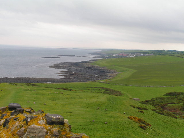 Looking back to Craster from Dunstanburgh Castle - geograph.org.uk - 1059992