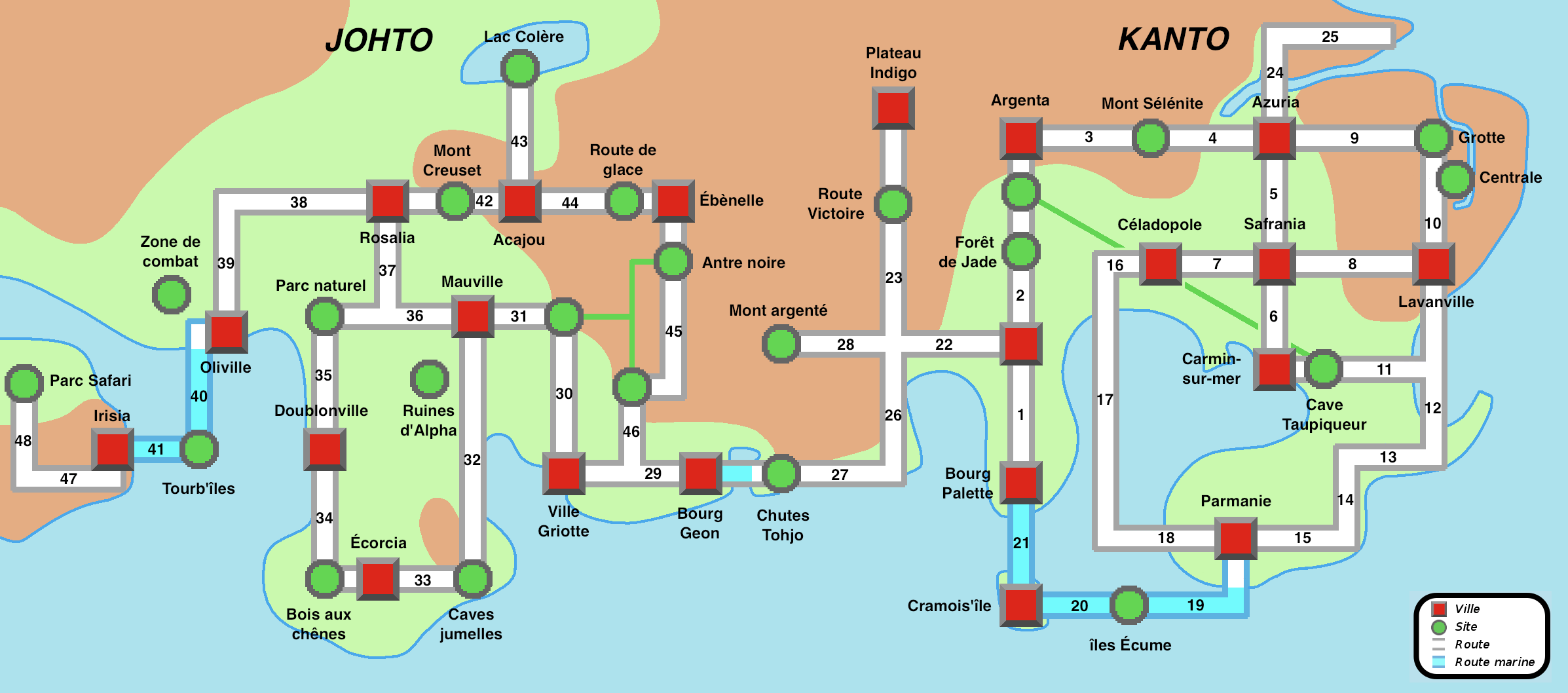 Pokemon Soul Silver Map