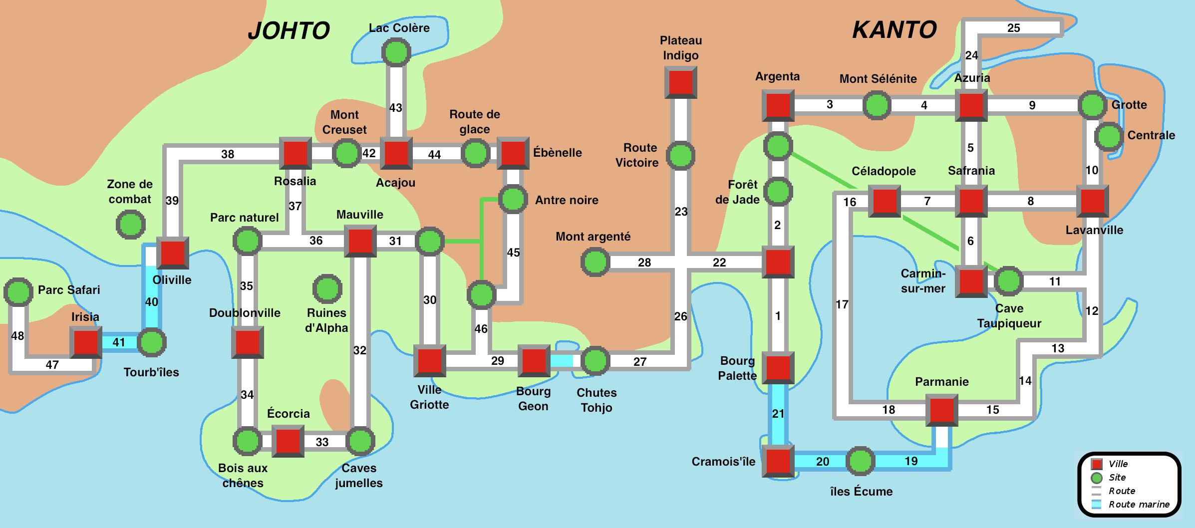 Pokemon Soul Silver Map