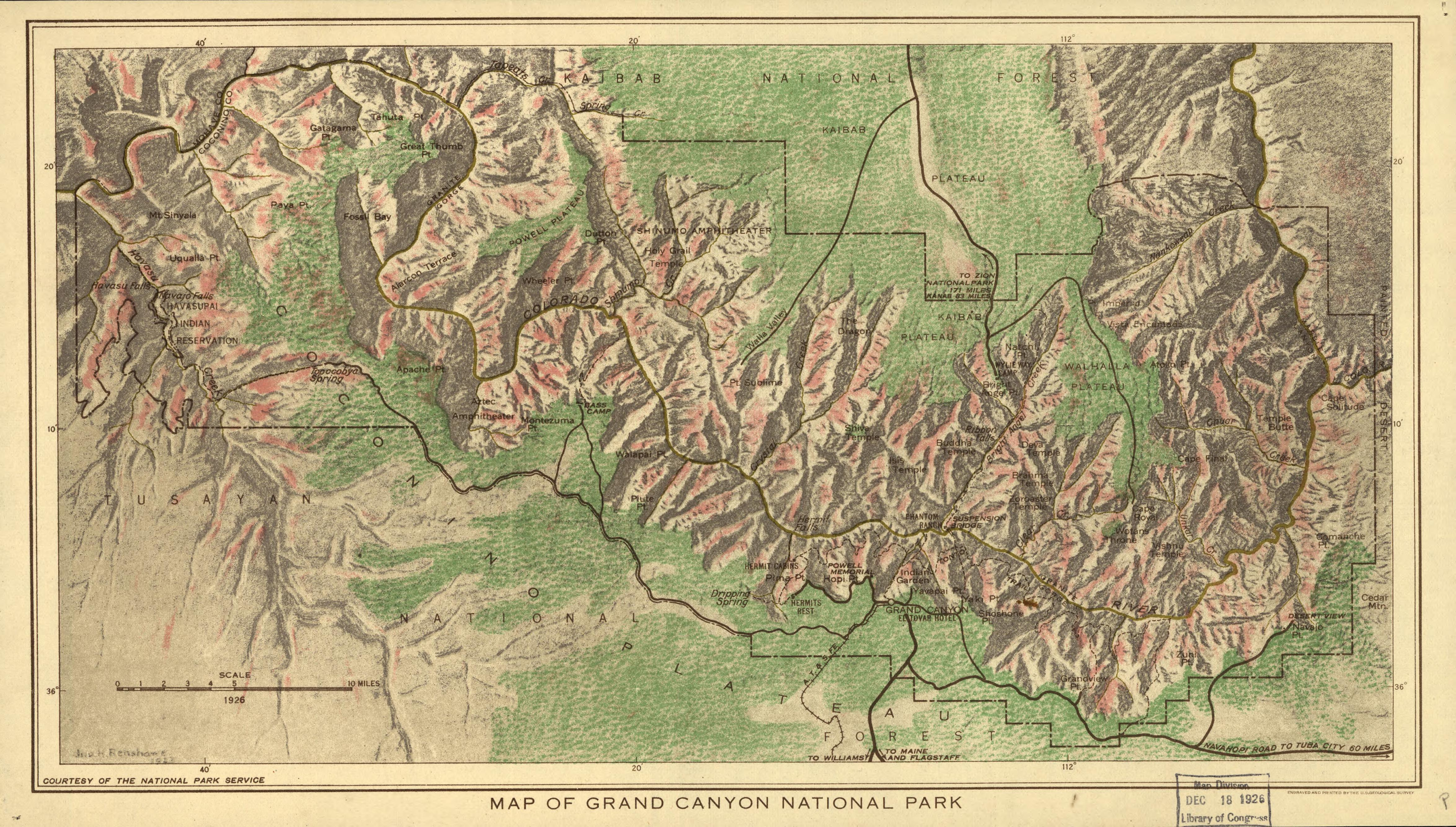 FileMap of the Grand Canyon National Park 1926jpg  Wikimedia