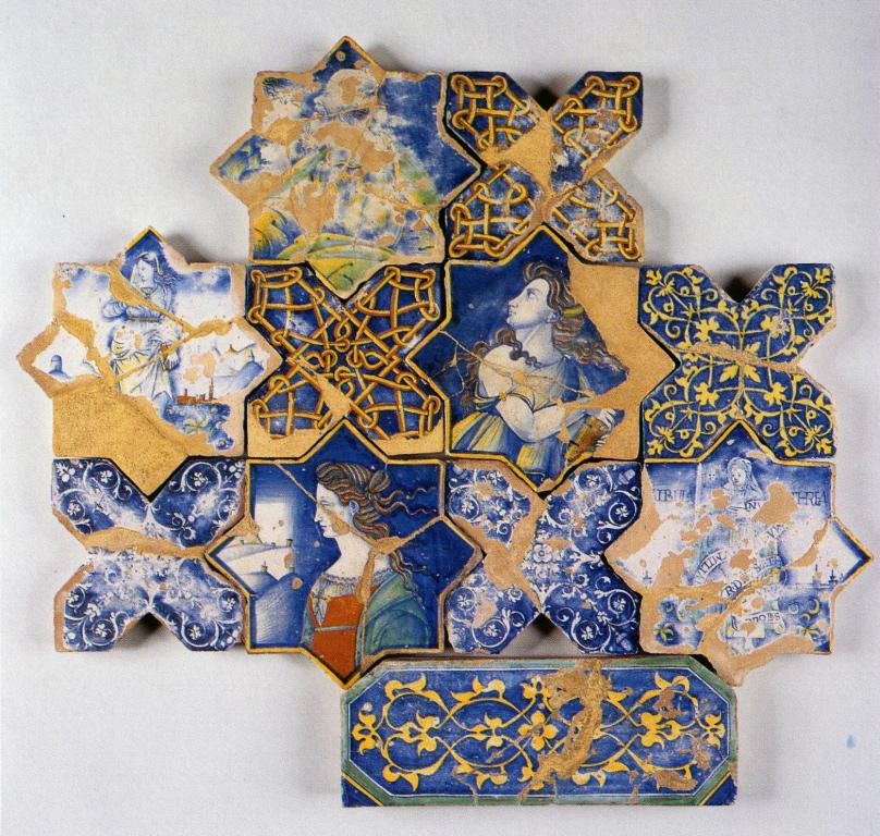 Pavimento della chiesa di san francesco di deruta wikipedia for Mattonelle maioliche