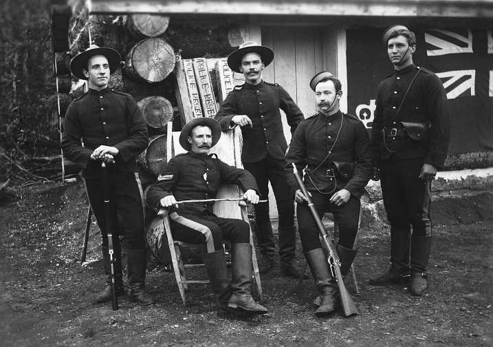 North West Mounted Police at Pleasant Camp 1898
